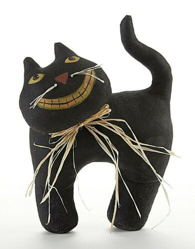 "Halloween/Fall Grinning Black Cat 7"" x 9"" Doll"
