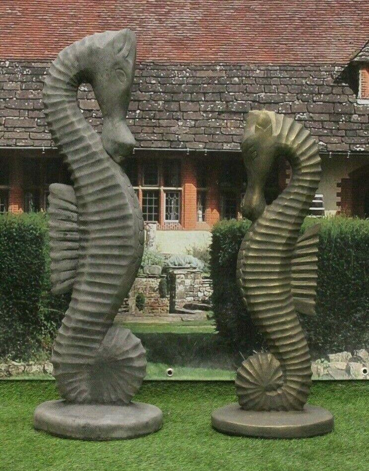 Seahorse Stone Statues Garden Ornaments, Seahorse Garden Statue