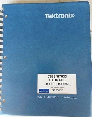 Tektronix 7633r7633 Oscilloscope Instruction Manual 070-1767-00 Schematics
