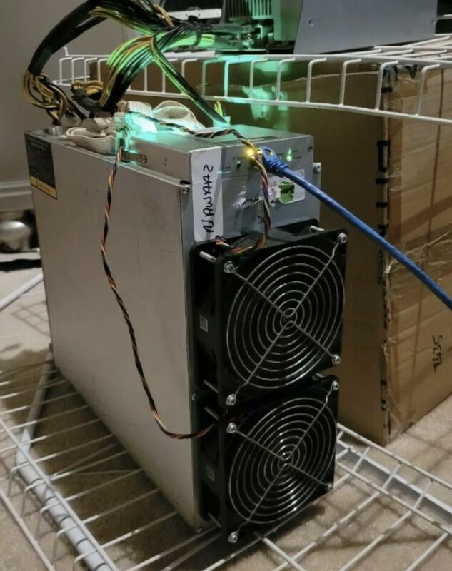 EXCELLENT BITMAIN ANTMINER E3 190MH MINER ETH ETHEREUM ETC MUSIC WITH PSU