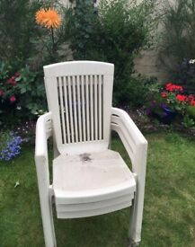 4 plastic chairs. FREE