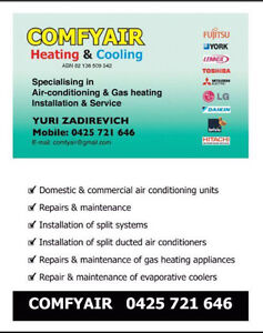 Comfy Air Heating & Cooling Caulfield Glen Eira Area Preview