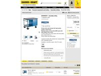 Mobile Engineers Workbench/ Assembly Trolly By KaiserKraft- 12 months old, Cost £580