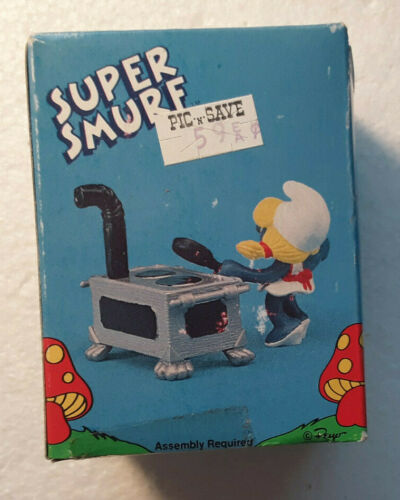 Super Smurfs Smurfette Kitchen Rare Vintage New Toy Figure Schleich 1981 #6750