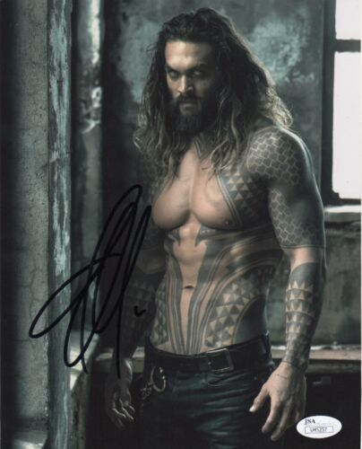 Jason Momoa Aquaman Justice League Autographed Signed 8x10 Photo JSA COA #10