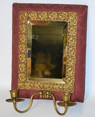 Antique Girandole Wall Mirror - Free Postage [PL1921]