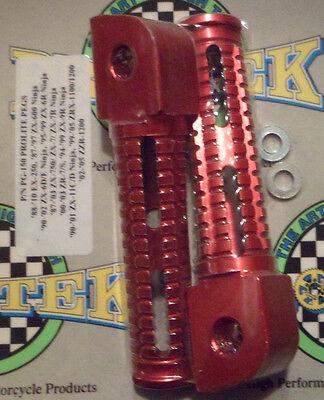 Kawasaki ZR7S Red Rear Passenger Foot Pegs 2000 2001 2002 2003 2004 ZR-7S