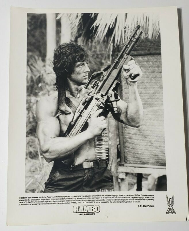 Vintage Rambo First Blood Part II Movie Still