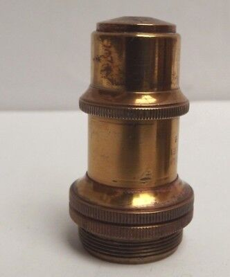 Microscope { Objective } C1890  { Brass } Leitz ! [ Good clean image ]