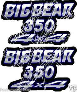 Big-Bear-350-4x4-Blue-Gas-Tank-Graphics-Decals-Sticker-Atv-Quad-400-500