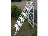 Vintage Wooden Ladder 4 step / Decorative