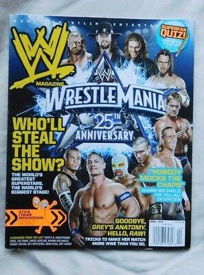 WWE MAGAZINE April  2009 Wrestle Mania 25th Anniversary