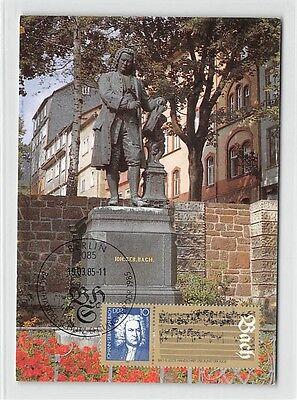 DDR MK 1985 MUSIK BACH KOMPONIST COMPOSER EISENACH CARTE MAXIMUM CARD MC d9659