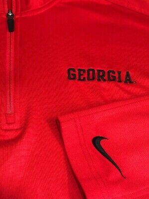 (Nike Mens Jacket University Of Georgia Bulldogs XL Pullover 1/4 Zip Jacket)