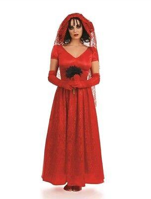 Blood Red Bride Lydia Beetlejuice Halloween Fancy Dress Small 8-10 Costume (Lydia Beetlejuice Costumes Halloween)