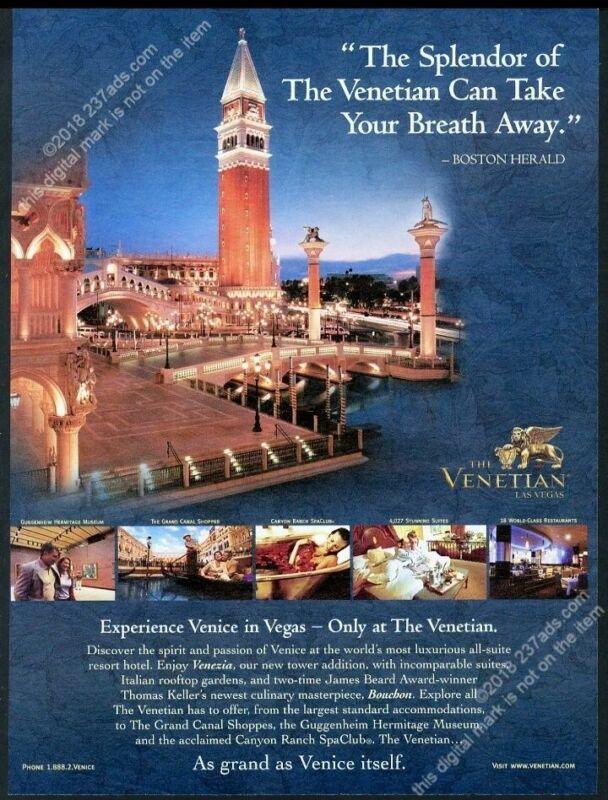 2005 The Venetian hotel resort Las Vegas 6 color photo big vintage print ad
