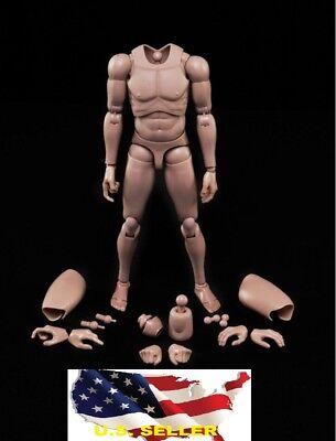 NEW Custom 1/6 hot toys Nude Caucasian Body Narrow Shoulder as TTM18 TTM21 ❶USA❶