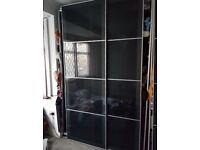 IKEA PAX BLACK GLASS DOOR SLIDING WARDROBE CAN DELIVER