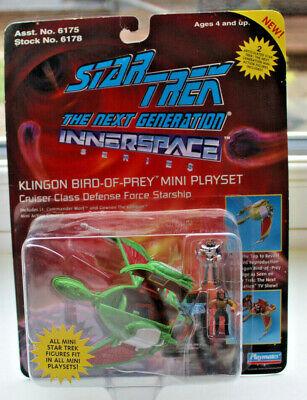 Star trek innerspace Klingon bird of prey ship and figures mib