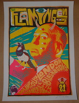 Flaming Lips Adam Pobiak London Poster Print Signed Numbered 2013 Night 2