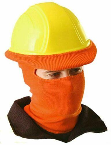 3 Pcs Occunomix Hot Rod LK810 Hi-Viz Orange Full Face Cover Winter Safety Liner