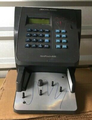 Novatime Hp-4000-e Hand Punch Time Clock