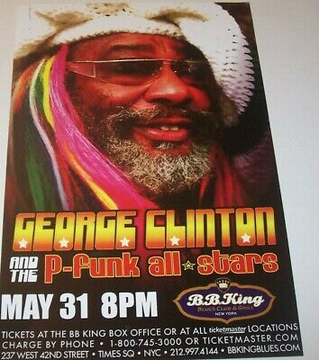 GEORGE CLINTON P-FUNK ALLSTARS CONCERT POSTER BB KING S CLUB NYC FAST SHIPPING - $25.00