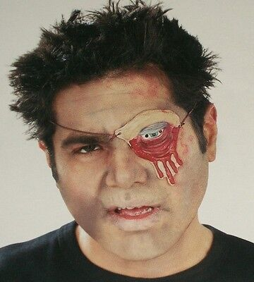 Halloween Zombie Eye Patch Latex Blood Dripping Costume Makeup Theater Stage