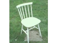 farmhouse kitchen chair painted white shabby chic
