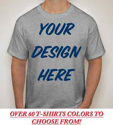 100 Custom Screen Printed COLOR T-Shirts - $3.30 each