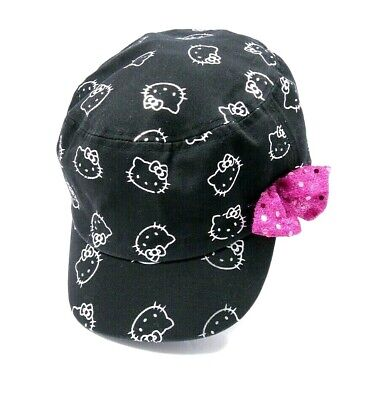 Hello Kitty Baseball Engineer Style Hat Cap Toddler Infants Elastic  - Toddler Engineer Hat