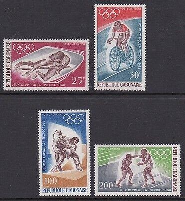 Gabón Gabonaise 1968 Air Mexico Olympics complete mint set sg327-330 A72-75