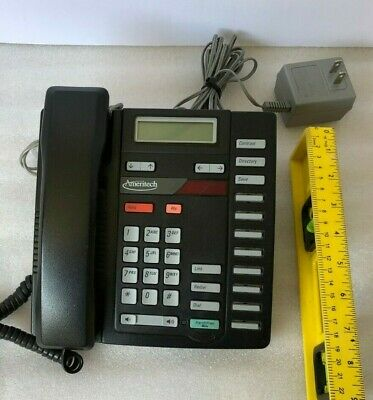 Northern Telecom Nortel M8314 Black Office Telephone Used Tested Working