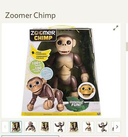 Voice controlled zoomer chimp