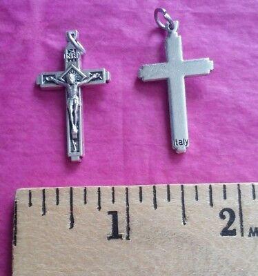 10 BULK Jesus Crucifixes Crosses Religious Catholic Christian Medals 1.25x0.5 (Bulk Medals)
