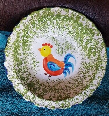 Honiton Pottery Bowl - Hand Painted Rooster Design