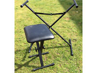 Adjustable keyboard stand and stool