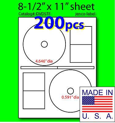 DVDSTF, 200 CD/DVD Labels Stomper Compatible Full (200 Cd / Dvd)