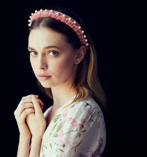 Jennifer Behr Mathilda Pearl-Embellished Headband