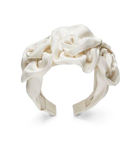 Jennifer Behr Bridal Triple Rosette Headband, Cream