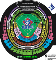 TORONTO BLUE JAYS TICKETS - SEC 115L ROW 10! - GAMES ALL SEASON