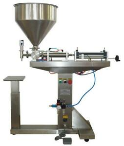 Pneumatic Paste Liquid Filling Machine 10-300ml with Stand 160435