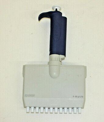 Rainin Pipet-lite L12-50 Multichannel Pipette 12 Channel 5-50 Ul Lts