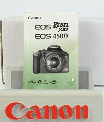 Canon EOS Rebel XSi / 450D Instruction Manual English AC (Canon Eos 450d Manual)