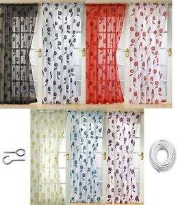 MODERN-SICILY-VOILE-NET-SINGLE-WINDOW-DOOR-CURTAIN-PANEL-PLAIN-FLORAL-FLOCKED