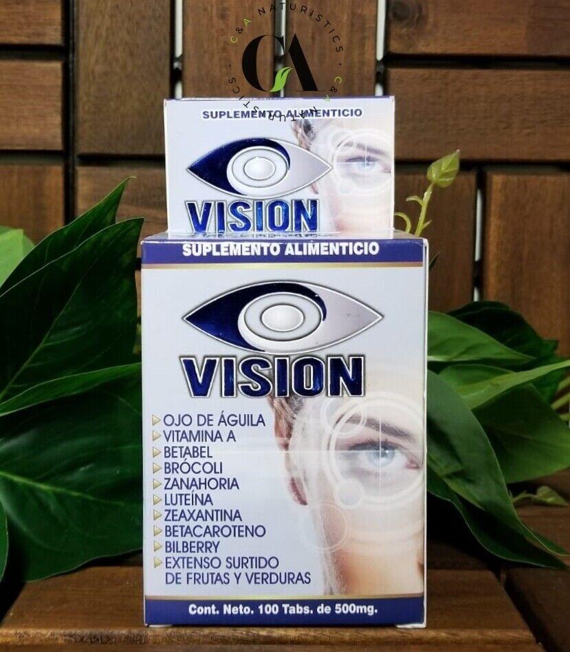 Vision Vitaminas para la Vista Ojo de Águila, Vitamina A, Betabel.*Cont.100 Tab* 1