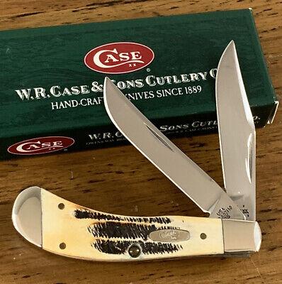2005 Case XX Tony Bose TB6.52110 SS Saddlehorn Knife Bone Stag Handles