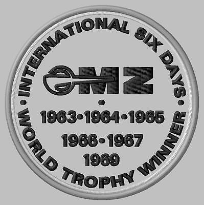 MZ Six Days World Trophy Winner Aufnäher iron-on patch