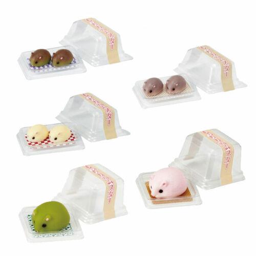 Miniature Hamster Mochi Squishy Squeeze Kawaii Gashapon 1 Random Mini Figure