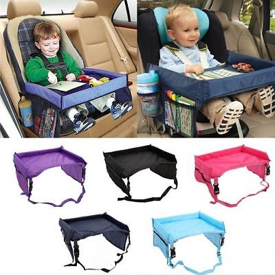 Baby Snack Tray - Safety Waterproof Snack Baby Car Seat Table Kids Play Travel Tray Drawing Board